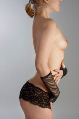 Perky boobs on woman